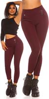 cosmodacollection Trendy hoge taille thermo treggins bordeaux