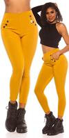 cosmodacollection Trendy hoge taille thermo treggins mosterdgeel
