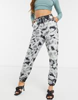 missguided Combi-set - Oversized joggingbroek in tie-dye-Multi