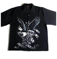 fiftiesstore Dragonfly Freedom To Ride Eagle Shirt