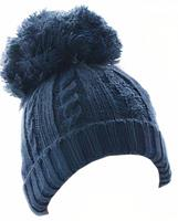 Soft Touch babymuts PomPom junior acryl navy mt 1 2 jaar