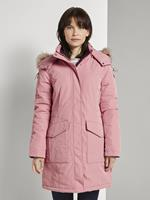 Tom Tailor Winterparka met bont trim, blush rose