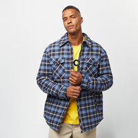 Urban Classics Plaid Quilted Shirt Jacket