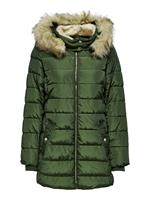 Long Quilted Jacket Dames Green