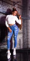 cosmodacollection Sexy skinny youre great jeans blauw