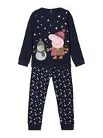 NAME IT Peppa Pig Kerst Nachtmode Dames Blauw