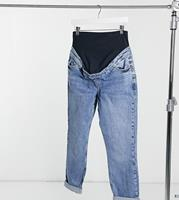 New Look Maternity - Mom jeans in middenblauw