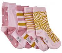 Minymo sokken met print meisjes katoen roze 5 paar 5 18