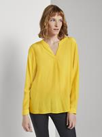 Tom Tailor Blouse met ruches Detail, california sand yellow