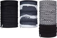 Avento sjaal Active heren polyester/fleece zwart/wit 3 stuks