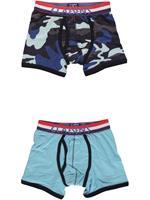 claesens 2-pack Boxers  - Blauw - Katoen/lycra