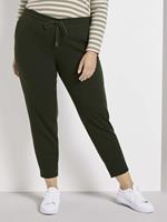 TOM TAILOR MY TRUE ME Gevlekte broek in loose fit, rosin green melange