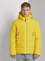TOM TAILOR DENIM Puffer jas met afneembare hoodie, lemon juice yellow