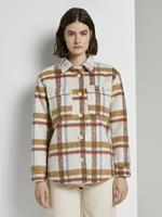 TOM TAILOR DENIM Geruite jas, beige check