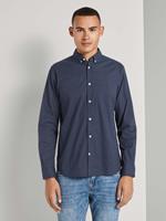TOM TAILOR Stretch overhemd met dessin, navy blue crosses design