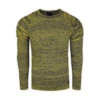 rustyneal Trui - heren - winter - Rusty Neal - Italian Fashion - geel,