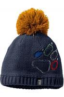 Jack Wolfskin Muts Paw Knit voor kids - Blauw/Geel -