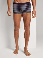TOM TAILOR Boxer Shorts in Twin Pack, blue-dark-horizontal stripe