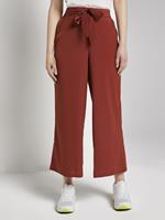 TOM TAILOR DENIM Culotte broek met strikriem, Rust Orange