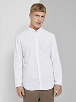 TOM TAILOR DENIM Fijn overhemd met dessin, white mini split drop print