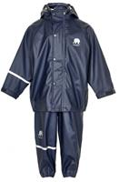CeLaVi regenpak Basic junior polyester marineblauw maat 80