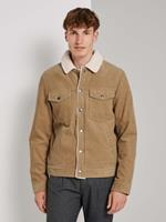 TOM TAILOR DENIM Corduroy Trucker Jas, Smoked Beige