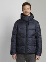 TOM TAILOR Puffer jas met hoodie, Sky Captain Blue