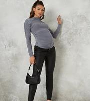 missguided Maternity - Vice - Jeans met coating in zwart