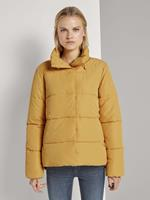 TOM TAILOR DENIM Puffer jas met opstaande kraag, Indian Spice Yellow