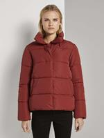 TOM TAILOR DENIM Puffer jas met opstaande kraag, Rust Orange