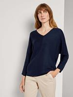 TOM TAILOR Trui met Batwing Mouwen, Sky Captain Blue