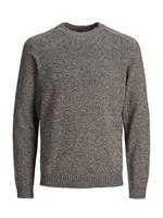 Jack & jones Crew-neck Gebreide Trui Heren Beige