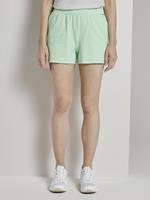 TOM TAILOR DENIM Vintage Sweatshorts met print, fresh mint