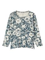 nameit NAME IT Bloemenprint Peplum Top Dames Blauw