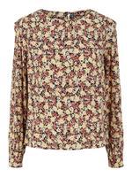 Pieces Bedrukt Overhemd Met Lange Mouwen Dames Zwart