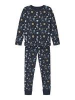 nameit NAME IT Biologisch Katoen Ruimteprint Pyjama Heren Blauw