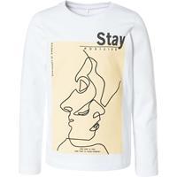 nameit NAME IT Bedrukt T-shirt Met Lange Mouwen Dames White