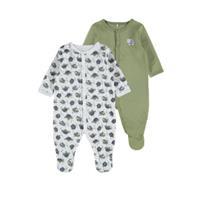 nameit NAME IT 2-pack Drukknoop Pyjama Heren Green