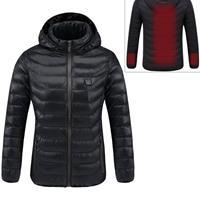 Slimme constante temperatuur USB-verwarming Katoenen warme kleding met capuchon (kleur: zwart Maat: L)