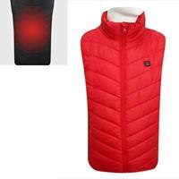 USB-beveiliging Smart Constant Temperature Fever Mannen met opstaande kraag Katoenen vest (kleur: rood Maat: S)
