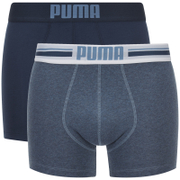 Puma Men's 2-Pack Placed Logo Boxers - Blue - Blauw