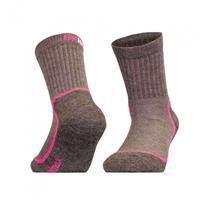 UphillSport sokken Kevo junior coolmax grijs/roze  30