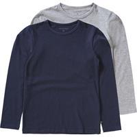 Minymo T shirt jongens katoen navy/grijs 2 stuks maat 104