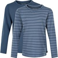 Minymo - Kid's Basic 34 -T-shirt L/S (2-pack) - Longsleeve, blauw/grijs
