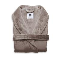 Zo Home Flanel Fleece Badjas Cara - ash brown