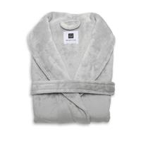 Zo Home Flanel Fleece Badjas Cara - pearl grey