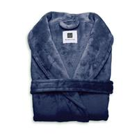 Zo Home Flanel Fleece Badjas Cara - indigo blue