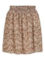 High-waist Minirok Dames Beige