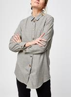 OBJECT COLLECTORS ITEM Oversized Cheque Overhemd Dames Beige