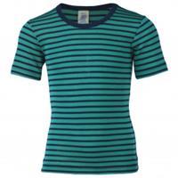 Engel - Kinder Unterhemd S/S - Merino-ondergoed, turkoois/blauw